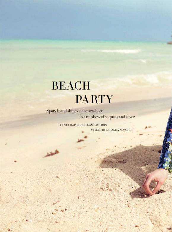 Beach Party Marikka Juhler By Regan Cameron For Uk Harper's Bazaar April 2014_01