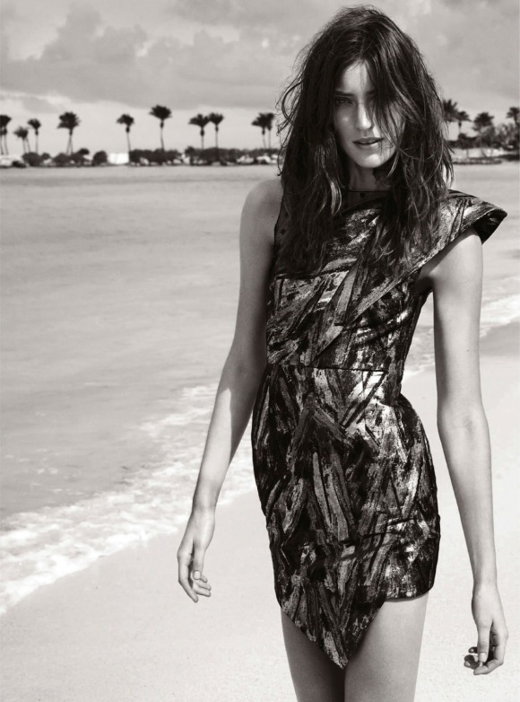 Beach Party Marikka Juhler By Regan Cameron For Uk Harper's Bazaar April 2014_05